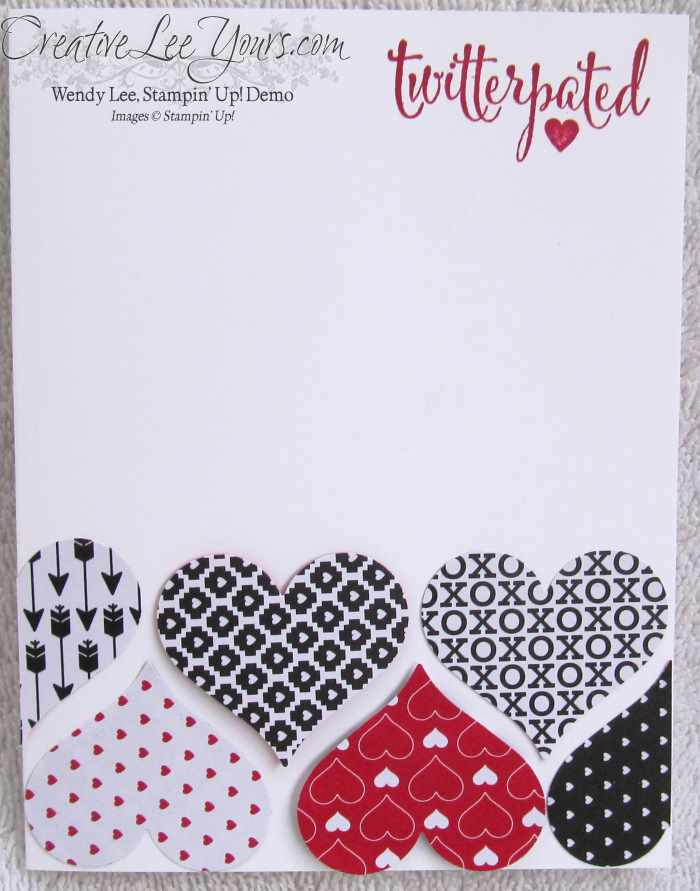 You Plus Me Hearts by Jennifer Harrell, #creativeleeyours, Stampin' Up!, Valentine Card