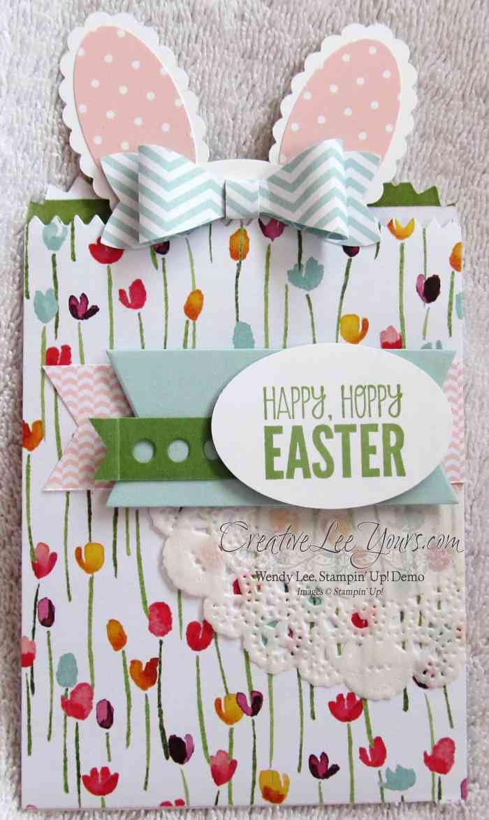 Sweet bunny gift card holder creativelee yours bunny gift card holder by wendy lee creativeleeyours stampin up happy easter negle Gallery