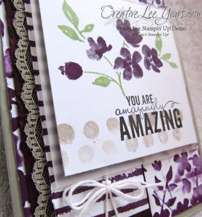 Amazingly Amazing by Wendy Lee, #creativeleeyours, Stampin' Up!, Painted Petals, Thank You Card