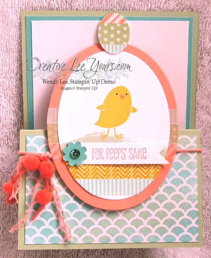 For Peeps Sake Easter Card by Wendy Lee, #creativeleeyours, Stampin' Up!