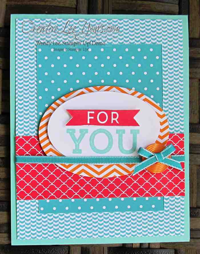 For You by Wendy Lee, #creativeleeyours, Stampin' Up!, April 2015 FMN class, Paper Pumpkin Bonus Card