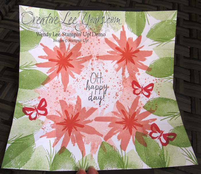 Mothers Day Explosion Card by Wendy Lee, #creativeleeyours, Stampin' Up!, Build a Bouquet stamp set