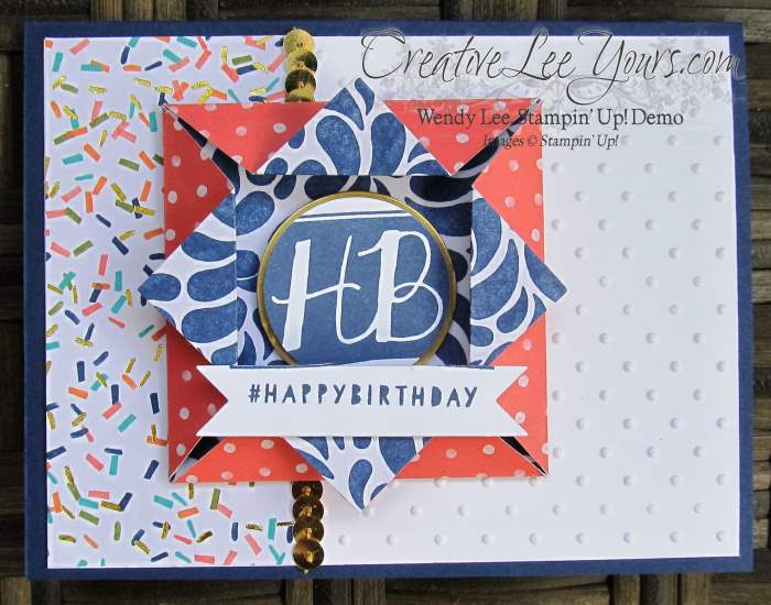 Shadowbox Fun Fold Birthday by Wendy Lee, #creativeleeyours, Stampin' Up!, Balloon Bash
