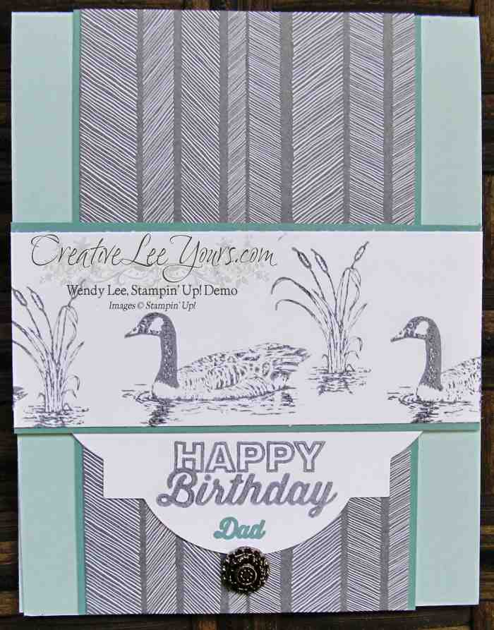 Moon Lake Birthday by Wendy Lee, #creqativeleeyours, Stampin' Up!, Paper Pumpkin Bonus Card, May 2015 FMN class