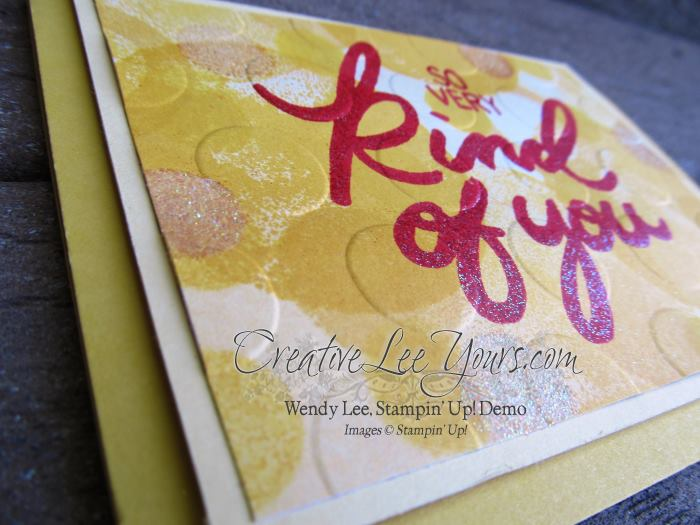 So Very Kind Faux Bokeh by Wendy Lee, #creativeleeyours, Diemonds team meeting, Stampin' Up!, Big on you stamp set