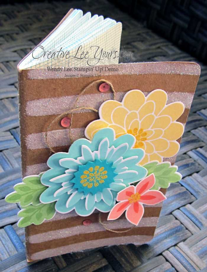 Flower Patch Journal by Wendy Lee, #creativeleeyours, Stampin' Up!, Flower flair framelits