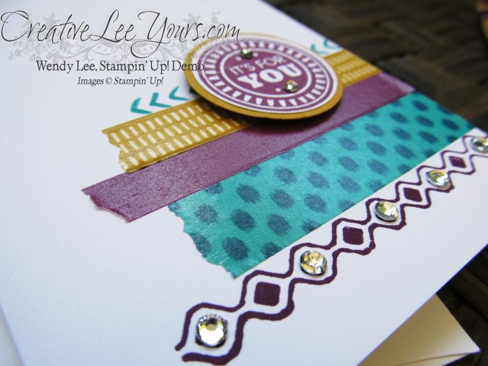 It's for You Bohemian card by Wendy Lee, #creativeleeyours, Stampin' Up!