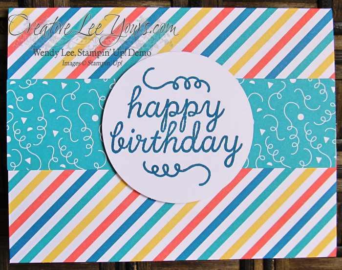 May 2015 Birthday Bundle Paper Pumpkin by Wendy Lee, #creativeleeyours, Stampin' Up!, Birthday card