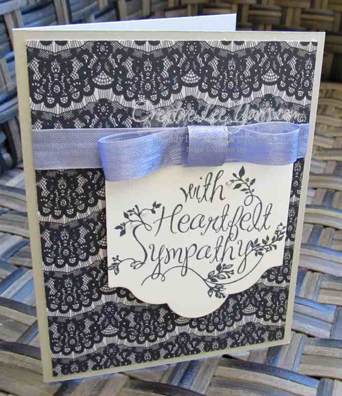 Heartfelt Sympathy by Wendy Lee, #creativeleeyours, Stampin' Up!, timeless elegance DSP