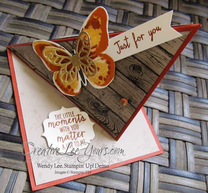 Watercolor wings corner easel by wendy lee, #creativeleeyours, Stampin' Up!, FMN July 2015