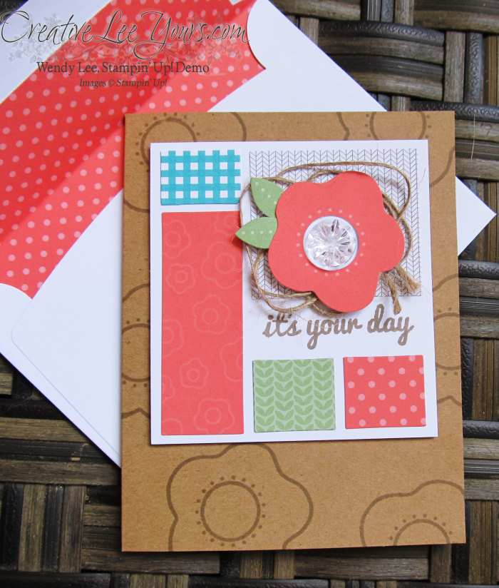 June 2015 Paper Pumpkin Happy Thoughts by Wendy Lee, #creativeleeyours, Stampin' Up!, It's your day card