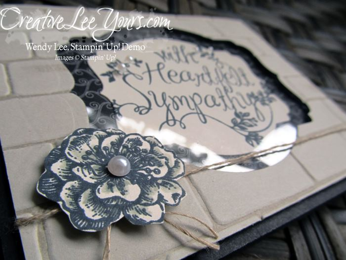 Heartfelt sympathy brick wall by wendy lee, #creati,veleeyours, StaMPIN' uP!, FMN July 2015