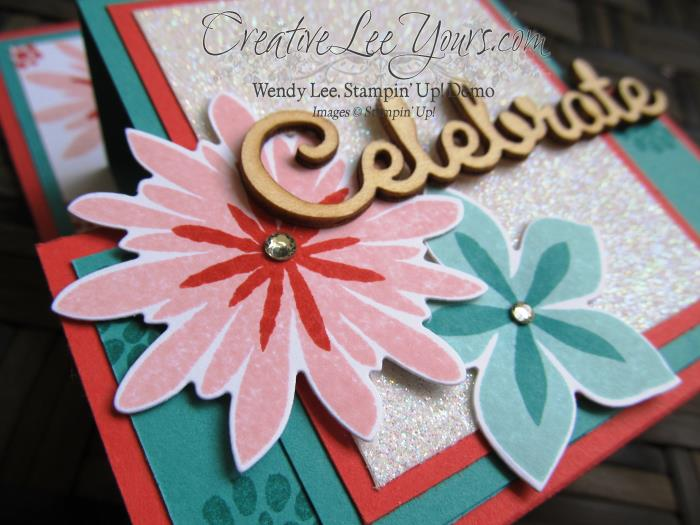 Flower patch step panel by wendy lee, #creativeleeyours, Stampin' Up!, FMN July 2015