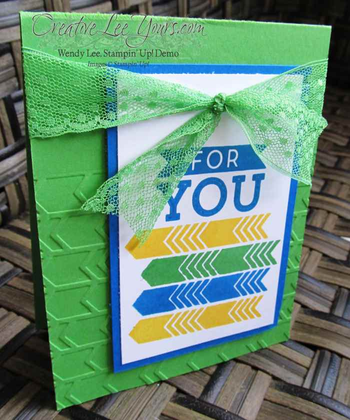 For You Paper Pumpkin Bonus Card by wendy lee, #creativeleeyours, Stampin' Up, FMN July 2015