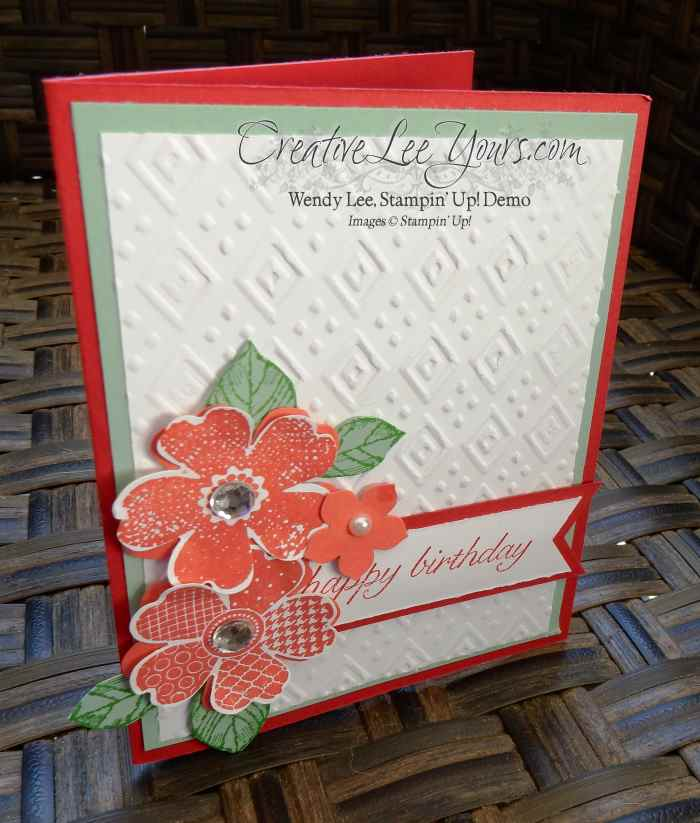 Flower Shop Birthday by Candy Combs, #creativeleeyours, Stampin' Up!, Diemonds team swap