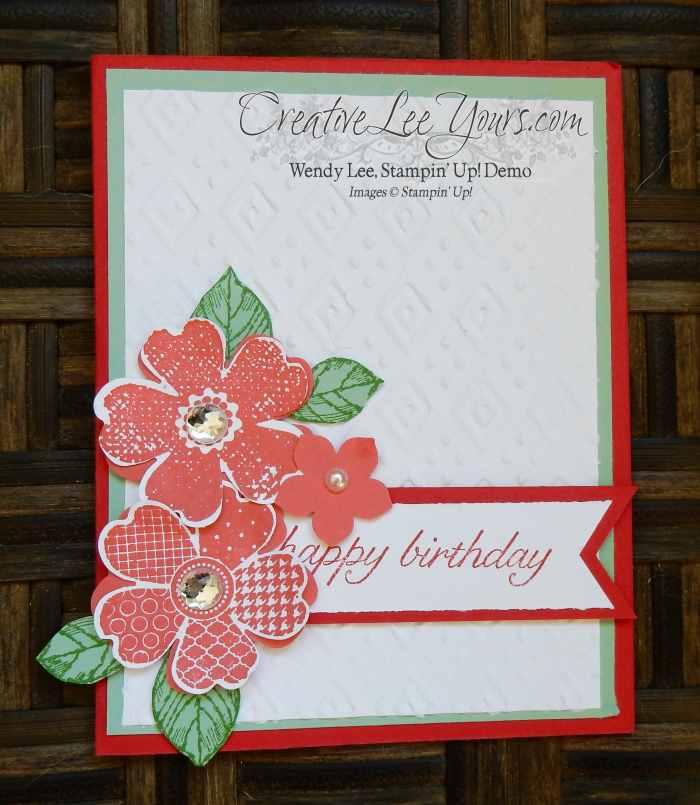 Flower Shop Birthday by Candy Combs, #creativeleeyours, Stampin' Up!, Diemonds team swap