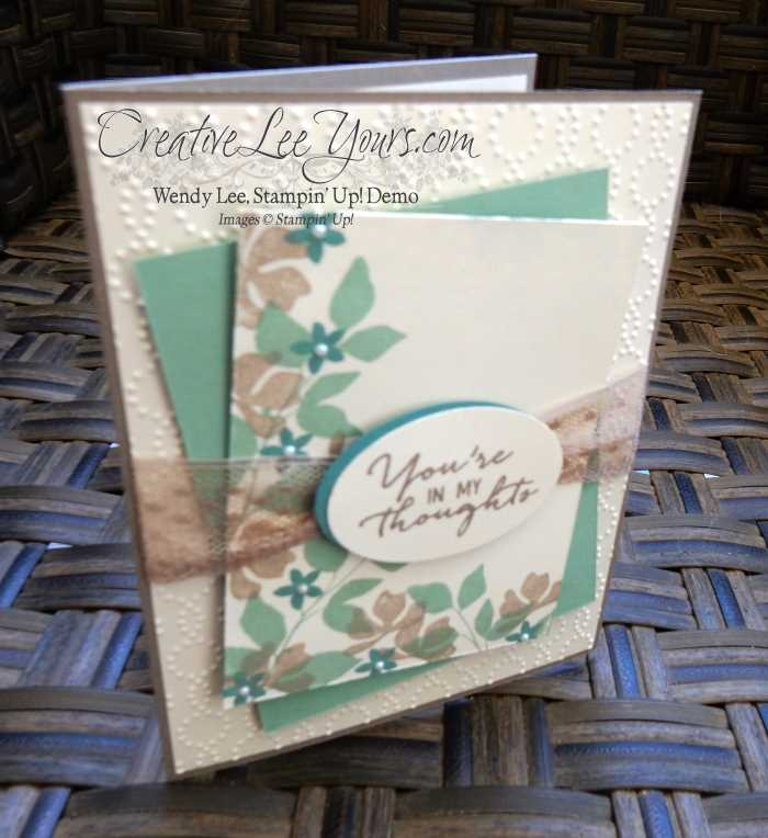 You're in my thoughts silhouettes by Wendy Lee, #creativeleeyours, Stampin' Up!, August FMN class