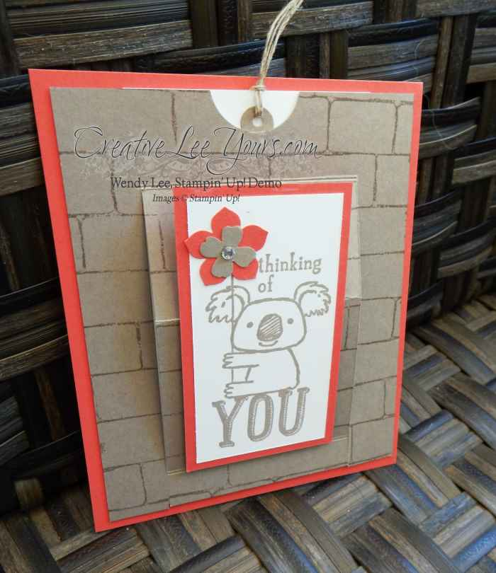 Slider Pull by Sheila Tatum, #creativeleeyous, Diemonds team meeting, Stampin' Up!
