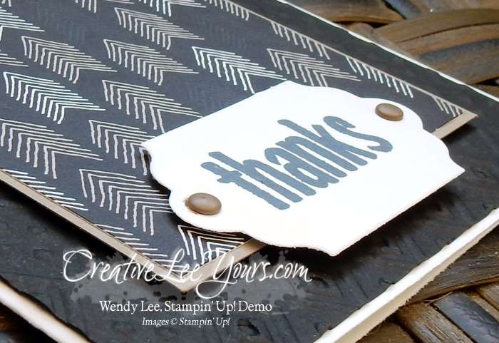 Thanks Paper Pumpkin Bonus Card by Wendy Lee, #creativeleeyours, Stampin' Up!, August FMN class
