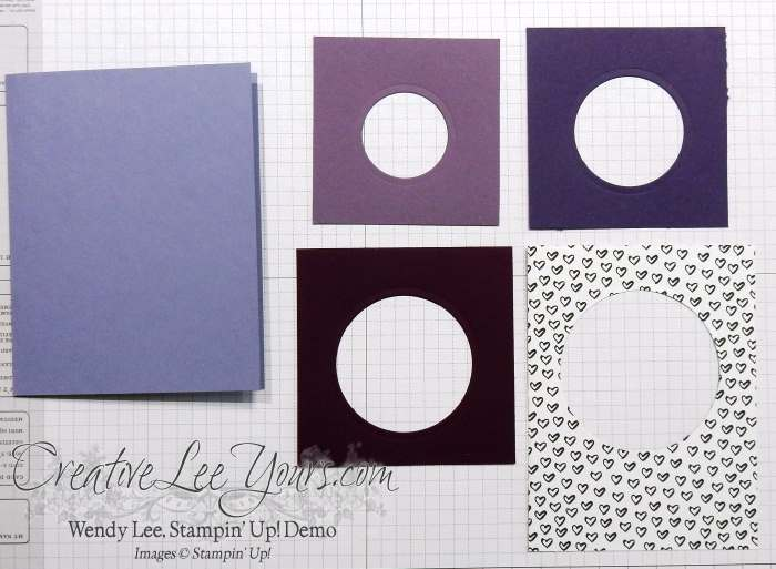 Negative Layered Die Cut Window by Wendy Lee, #creativeleeyourrs, Stampin' Up!, circle collection framelits,Hello life stamp set
