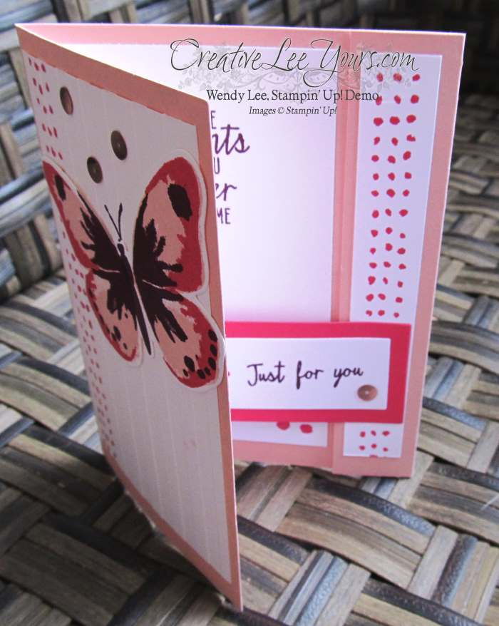 Watercolor Wings Just for You by Jennifer Moretz, #creativeleeyours, Stampin' Up!, Diemonds team swap