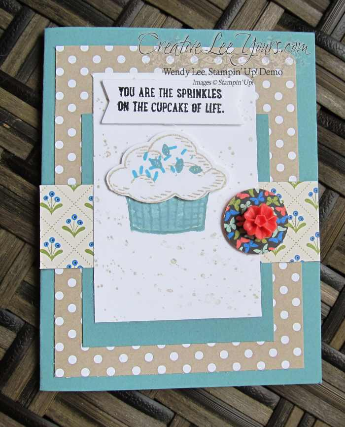 Sprinkles of Life Cupcake by Betsy Batten, #creativeleeyours, Stampin' Up!, Diemonds team swap