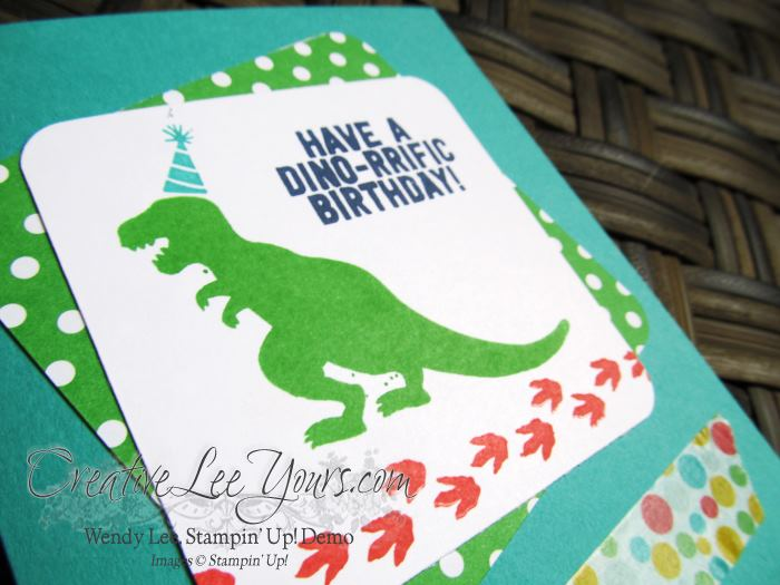 No Bones About it Birthday by Jennifer Moretz, #creativeleeyours, Stampin' Up!, Diemonds team swap