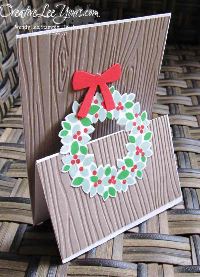Christmas Wreath Easel Card by Robin Reid, #creativeleeyours, Stampin' Up!, Diemonds team swap