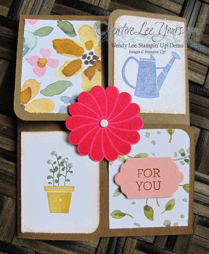 gift from the garden by Zoe Williams, #creativeleeyours, Stampin' Up!, Diemonds team swap