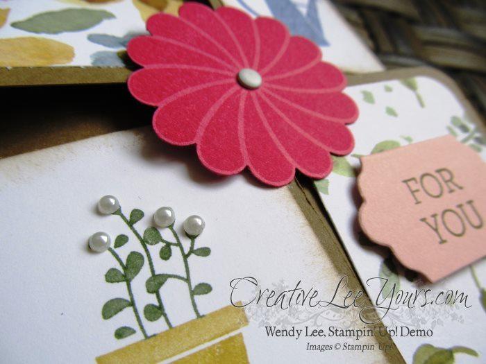 gift from the garden by Zoe Williams, #creativeleeyours, Stampin' Up!, Diemonds team swap