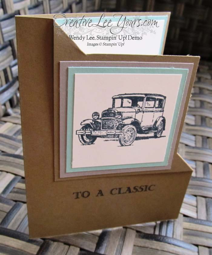 Guy Greetings Corner Fold by Belinda Rodgers, #creativeleeyours, Stampin' Up!, Diemonds team swap