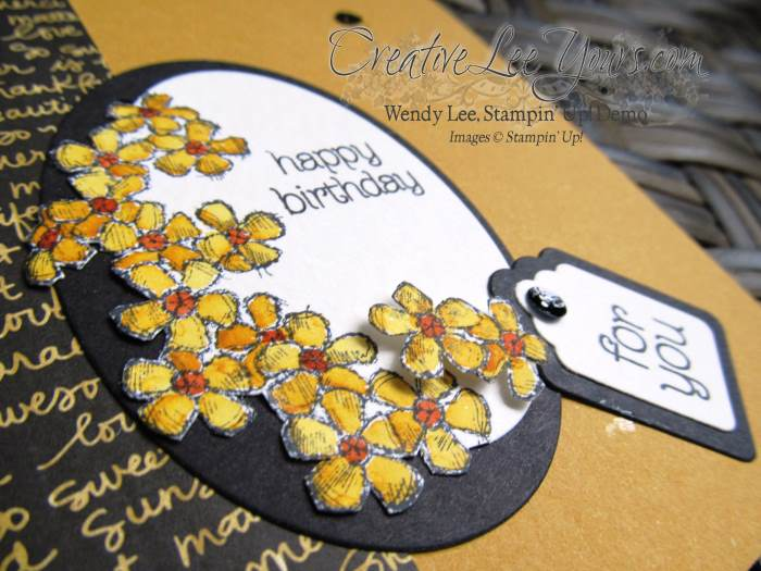 Birthday Blossoms by Sheila Tatum, #creativeleeyours, Stampin' Up!, Diemonds team swap