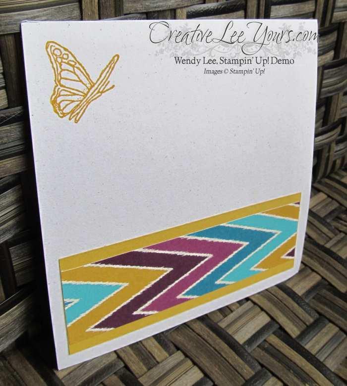 Bohemian Scrapbook Page by Gwen Williams, #creativeleeyurs, Stampin' Up!, Diemonds team swap