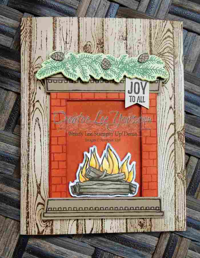 Festive Fireplace by Wendy Lee, #creativeleeyours, Stampin' Up!,Christmas Card