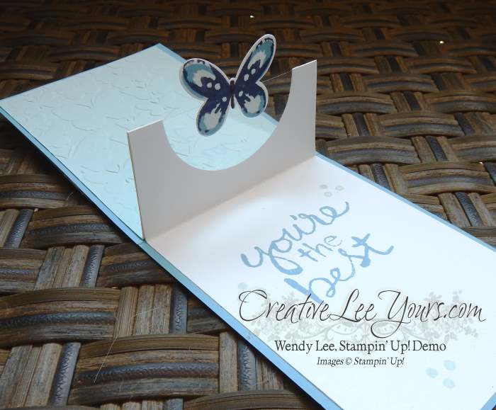 Watercolor Wings Pop-Up by Wendy Lee, #creativeleeyours, Stampin' Up!, Just for you
