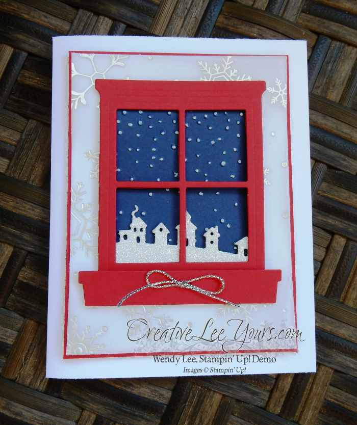 Winter Night by Wendy Lee, #creativeleeyours, Stampin' Up!, Hearth & Home, Sleigh ride edgelits