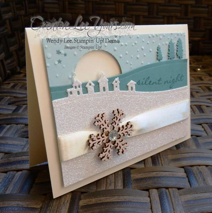 Silent Night by Wendy Lee, Creativeleeyours, Stampin' Up!, sleigh ride edgelits