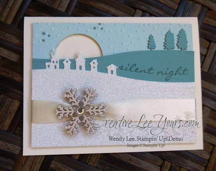 Silent Night by Wendy Lee, Creativeleeyours, Stampin' Up!, sleigh ride edgelits