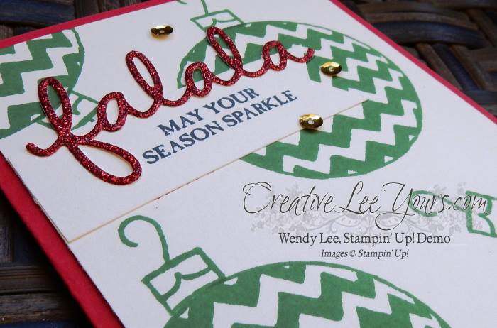 Sparkly Seasons September 2015 Diemonds team mtg by Wendy Lee, #creativeleeyours, Stampin' Up!, Christmas Card