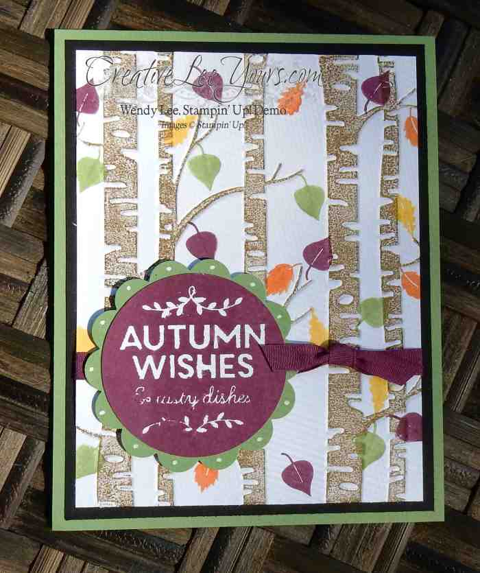 Autumn Wishes by Belinda Rodgers, #creativeleeyours, Stampin' Up!, Woodland embossing folder, among the branches