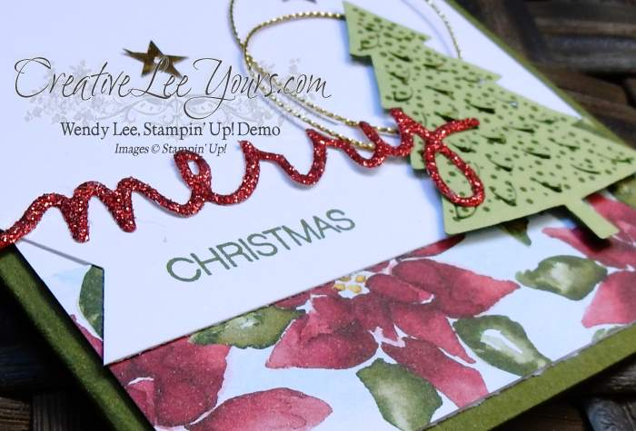 Peaceful Pines September 2015 Diemonds team mtg by Wendy Lee, #creativeleeyours, Stampin' Up!, Christmas Card