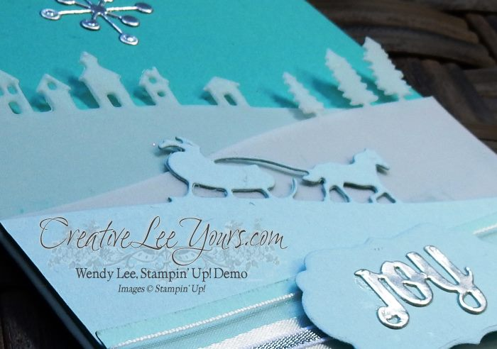 Sleigh Ride Joy by Carol Curren, #creativeleeyours, Stampin' Up!, Christmas Card,Diemonds team swap, Sleigh Ride Edgelits