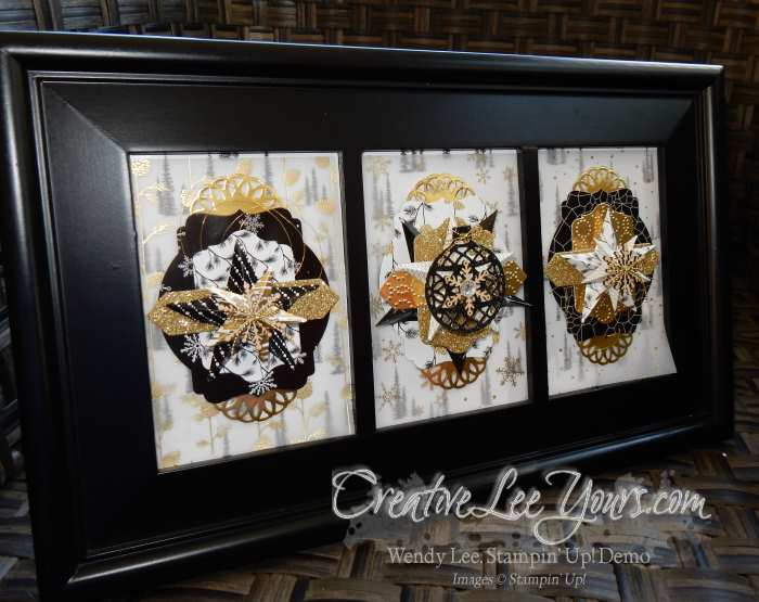 Winter Art 2015 by Wendy Lee, #creativeleeyours, Stampin' Up!, Home Decor Class