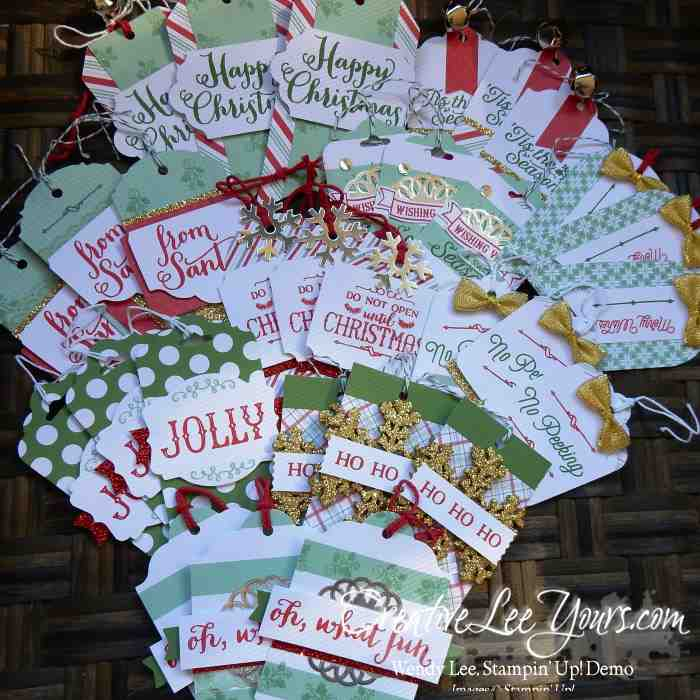 Oh What Fun tag class by Wendy Lee, Christmas, #creativeleeyouts, Stampin Up!