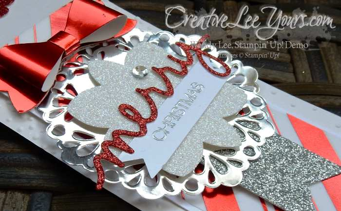 Festive Bottle Tag by Wendy Lee, #creativeleeyours, Stampin' Up, Christmas, Holly Jolly Greetings