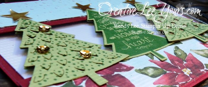 Peaceful Pines by Wendy Lee, #creativeleeyours, Stampin' Up!, Christmas Card