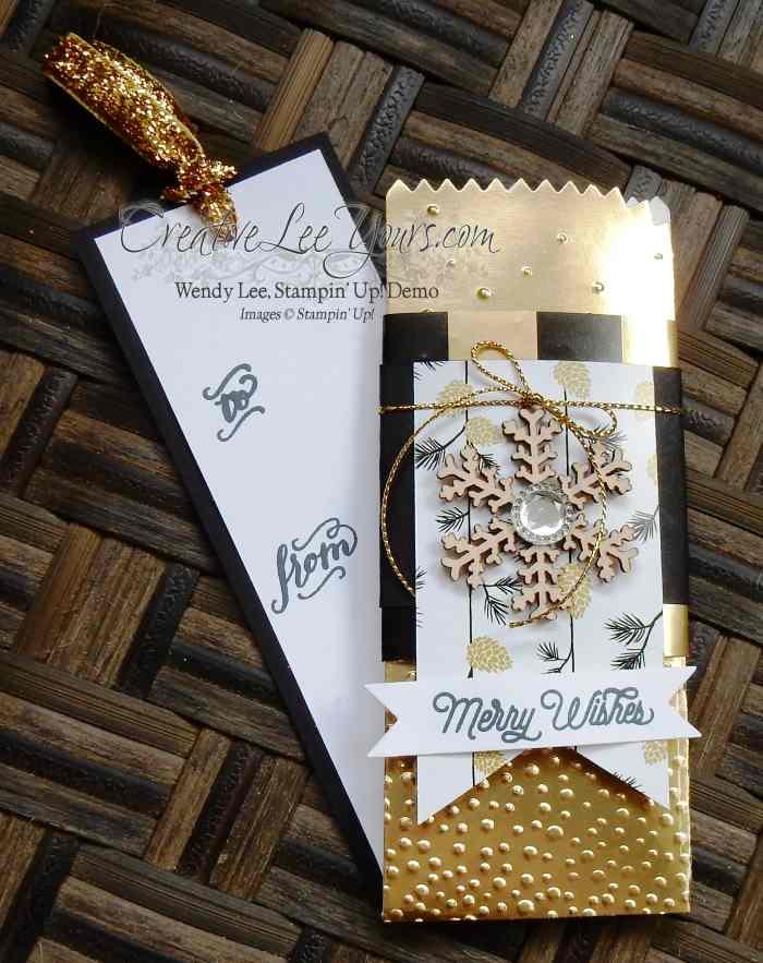 Mini Treat Bag by Wendy Lee, #creativeleeyours, Stampin' Up!, November FMN class, Mini Treat Bag Thinlits, Christmas