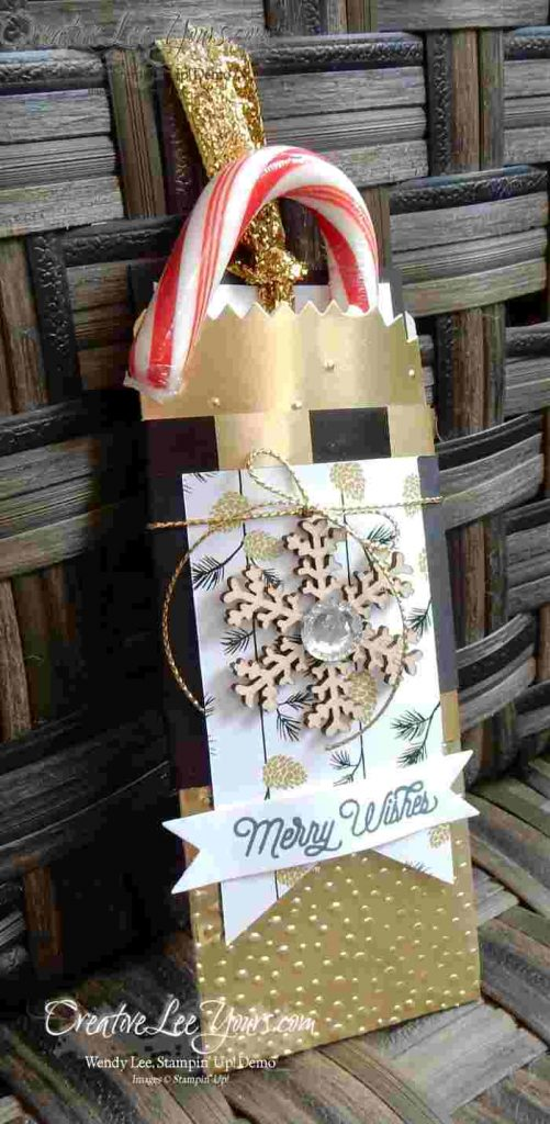 Mini Treat Bag by Wendy Lee, #creativeleeyours, Stampin' Up!, November FMN class, Mini Treat Bag Thinlits, Christmas