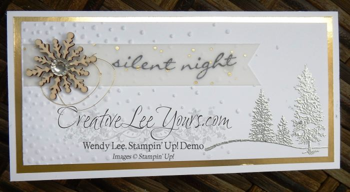 Silent Night by Wendy Lee, #creativeleeyours, happy scenes stamp set, jingle all the way stamp set, christmas card