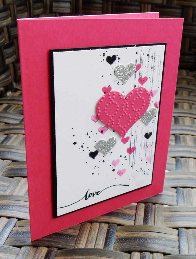 Grunge Valentine by Wendy Lee, #creativeleeyours, Stampin' Up!, georgous grunge stamp set, hearts, love, valentine card